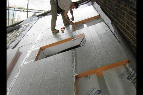 Two layers of insulation provide the roof with a U-value of 0.15W/m2K